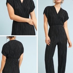 Pleated Black Jumpsuit Anthropologie